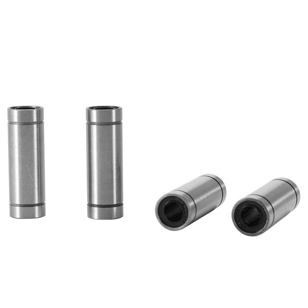Akozon-lineare Bewegungs-Lager 6pcs LM8LUU lange lineare Bewegungs-Kugellager f/ür 8mm Stange f/ür lineare Bewegung auf 3D-Drucker CNC und andere Anwendungen