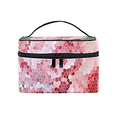 bf2fe621a9 ALIREA Colorful Rainbow Square Mosaic Cosmetic Bag Travel Makeup Train  Cases Storage Organizer cheap
