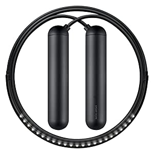 Tangram Factory Smart Rope – LED embedded Skipping Rope – See your fitness data in MID-AIR