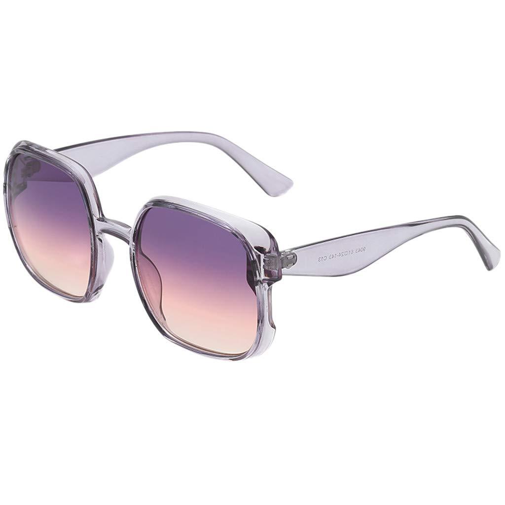 Qiiueen Gafas De Sol para Hombre Y Mujer, Marco Grande ...
