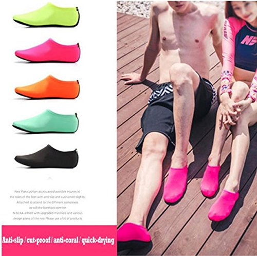 Beach Socks Green Swim slip Diving Bonboho Sock Aqua Water Shoes Women Non Men Scuba Exercise Pool 6nawU