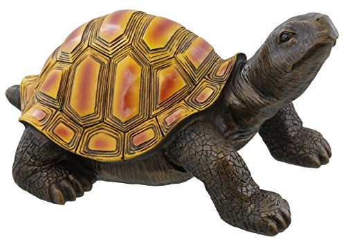 Large Colorful Box Turtle Garden Decoration Collectible Tortoise Terrapin Figurine (Garden Figurine Statue)