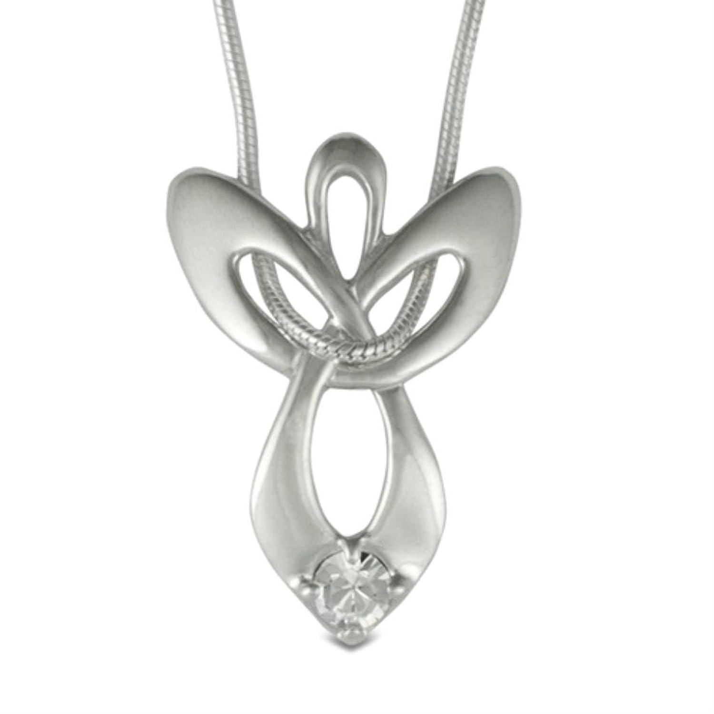 Amazon loving family genuine 925 sterling silver april amazon loving family genuine 925 sterling silver april swarovski crystal guardian angel necklace jewelry aloadofball Gallery