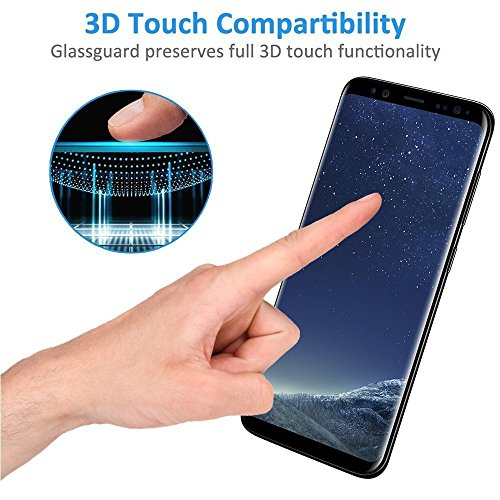 DeFitch [2 PACK] Galaxy S8 Tempered Glass Screen Protector, PREMIUM Strengthened Clear Anti-Bubble Scratch Proof for Samsung Galaxy S8 [Case Friendly] by DeFitch (Image #2)