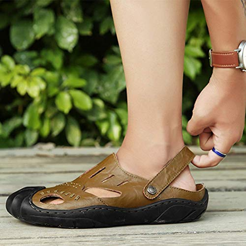 Dito Vacchetta Pantofola A Scarpe Sandali Chiuso Del Estate Baotou Passeggio 39 Uomini Piede Khaki 5Idqww