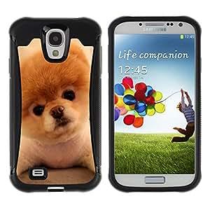 Suave TPU GEL Carcasa Funda Silicona Blando Estuche Caso de protección (para) Samsung Galaxy S4 IV I9500 / CECELL Phone case / / Pomeranian Puppy Golden Brown Dog /