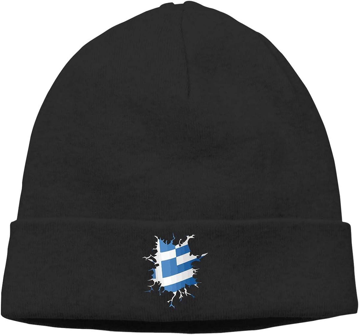 BBlooobow Men Women Inside Body Greek Flag Soft Knit Caps
