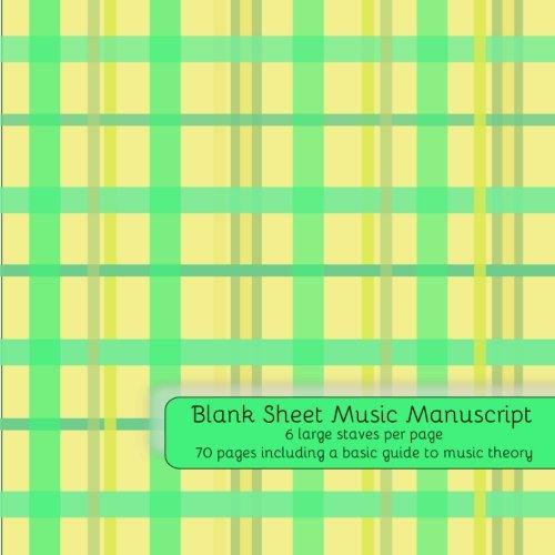 Blank Sheet Music Music Manuscript Paper Staff Paper