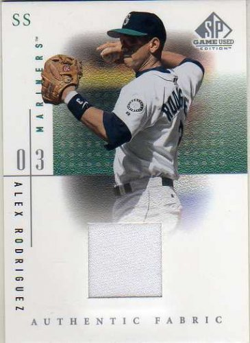 (2001 SP Game Used Edition Authentic Fabric #ARM Alex Rodriguez Mariners DP Jersey Card)