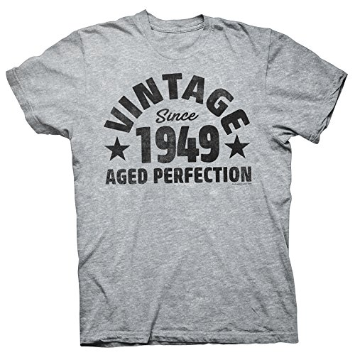4ce4d8f03ec 69th Birthday Gift Distressed T-Shirt - Vintage 1949 Aged to Perfection -  Bold 002