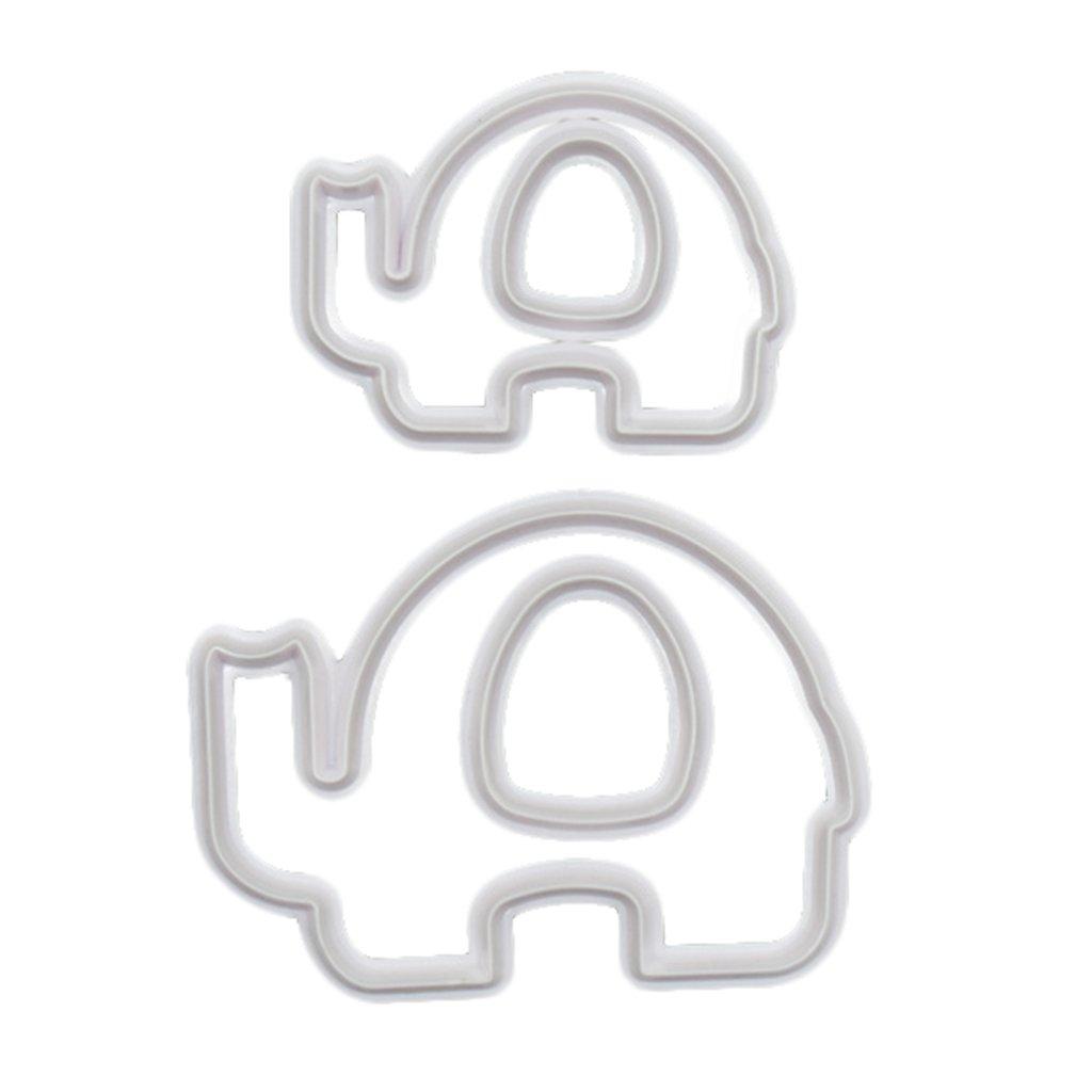 Blesiya New Elephant Shape Pastry/Cookie/Cake/Fondant Cutter Mold Baking DIY Tool 4 pcs/Set