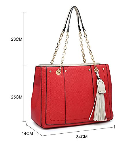 New Design Strap Womens Fashions Strap lt; Elegant Long Shoulder Gold Ladies Bag Shopper Shoulder Tassel Large Bag Tote 5wq17Ip