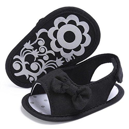 Schuhe Baby alleinige Krippe Schuhe Prewalker Schwarz Kleinkind Bowknot Clode® weiche FA8Rwaq