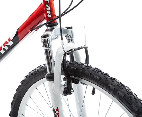 Titan Pathfinder Mens 18 Speed All Terrain Mountain Bike with Front Shock Suspension