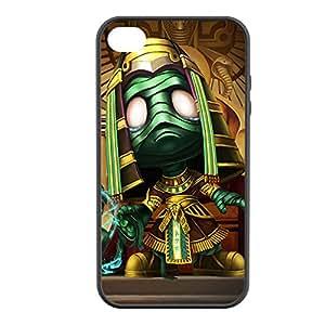 Amumu-004 League of Legends LoL case cover for Apple iPhone 4 / 4S - Rubber Black