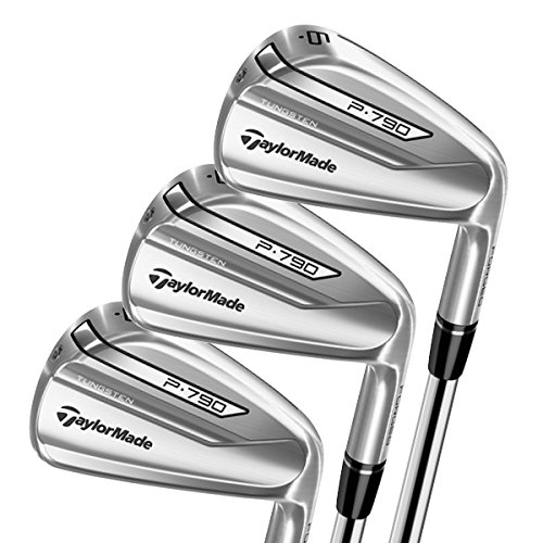 TaylorMade Golf P790 Men's Iron Set (Set of 8 total clubs: Steel Stiff Flex 4-PW AW Iron Set, Right Hand)