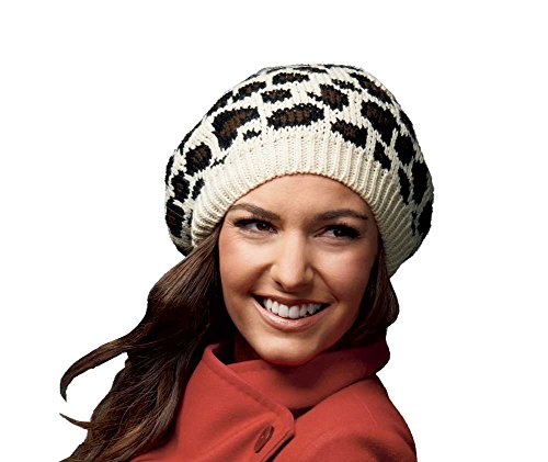 Celine Knit Animal Print Beret