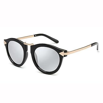 WX xin Moda Gafas De Sol Hembra Elegante Polarizado UV 400 Retro Cara Redonda Gafas De