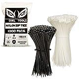 Bulk Nylon Zip Ties Pack of 1000-8 Inch Cable Ties