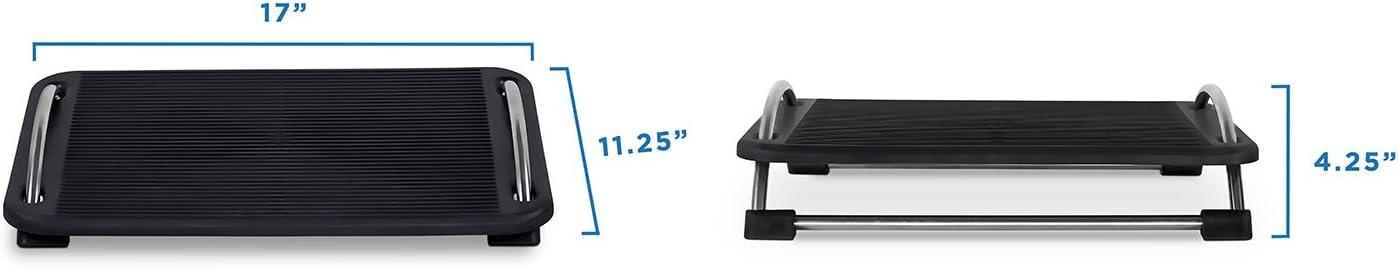 Tilting Footrest Under Desk Large Platform Elevated Office Footrest Computer Desk Foot Support Ergonomic Office Foot Rest Adjustable Mount-It