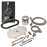 Helix 14681 Billet Remote Brake Reservoir Kit with Large Tank for Corvette Master Cylinder