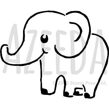 Groß A2 Netter Elefant Wandschablone Vorlage Ws00023113