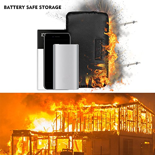 Fireproof Power Bank Carrying Case,ENGPOW Fire Resistant Organizer Accessories Bag Fire Safe Portable Charger Hard Drive Bag Travel Storage for Anker Power Bank,My Passport Essential,USB Cable by ENGPOW (Image #7)