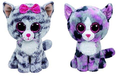 Ty Kiki And Lindi Cats Set Of 2 Beanie Boos Stuffed Animal Plush Toy
