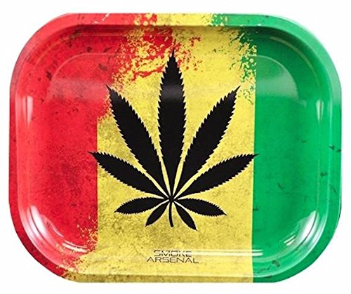 Smoke Arsenal Rasta Leaf Rolling Tray