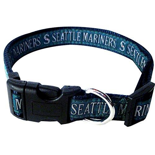 (MLB SEATTLE MARINERS Dog Collar, Medium)