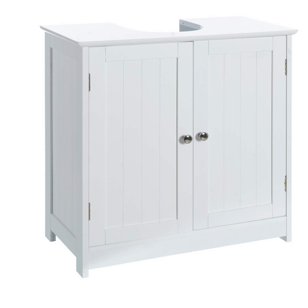 Armario bajo Lavabo Minimalista Blanco de Madera para Cuarto de baño Vitta - LOLAhome product image