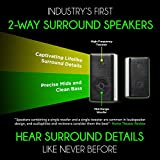 """Nakamichi Shockwafe Ultra 9.2Ch DTS:X 1000W 45-Inch Sound Bar System with Dual 10"""" Subwoofers (Wireless) & Four 2-Way Rear Surround Speakers"""