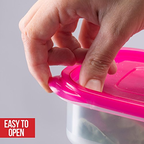Bento Lunch Box 3 Compartment Food Containers – Set of 4 Storage Meal prep Container Boxes– Ideal for Adults, Toddler, Kids, Girls, and Boys – Free 2-in-1 Fork/Spoon & Puzzle Sandwich Cutter by Perfect Fit (Image #2)