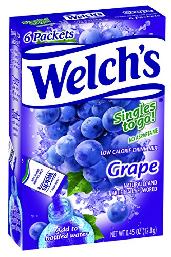 Welch's Singles To Go Water Drink Mix - Grape Powder Sticks (12 Boxes with 6 Packets Each - 72 Total Servings)