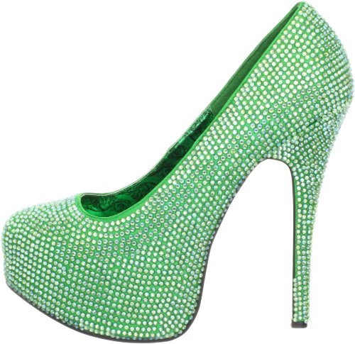 Pleaser 06r Green Punta Scarpe Chiusa Col Rs Tacco Satin Donna Teeze irid gg5qwHxf