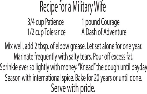 Military Wall Saying Decals Recipe For A Wife Home Art Family Decal Quotes Amazoncouk Kitchen