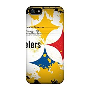 Abrahamcc Iphone 5/5s Hybrid Tpu Case Cover Silicon Bumper Pittsburgh Steelers