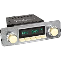 RetroSound HI-302-68-78 Hermosa Direct-Fit Radio for Classic Vehicle (Face & Ivory Buttons and Faceplate)
