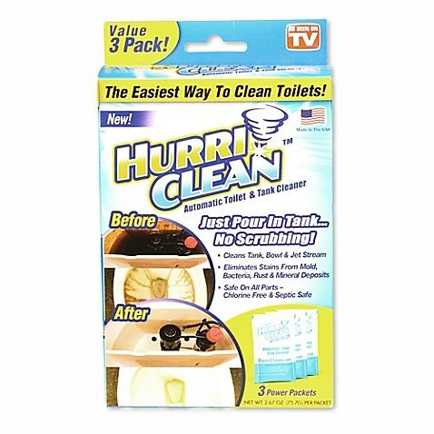 Hurriclean 3-Pack Automatic Toilet Cleaner, As Seen on ()