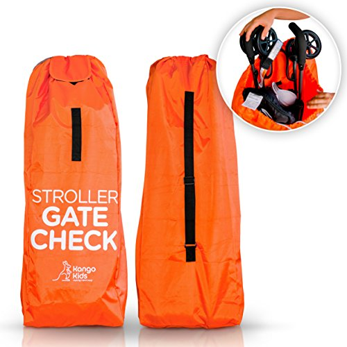 Stroller Travel Bag -Make Travel Easier & Save Money. Baby Gate Check Bags for Air Travel - Protect Your Child's Umbrella Strollers from Germs & Damage. Durable, Waterproof and Easy to Carry. by KangoKids