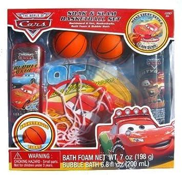 Amazon.com: Disney Pixar Cars Soak & Slam baño Canasta de ...