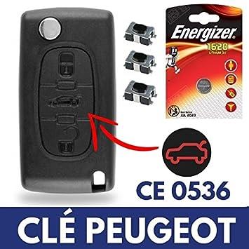 Carcasa/Caja de mando a distancia Plip llave Peugeot 207 ...