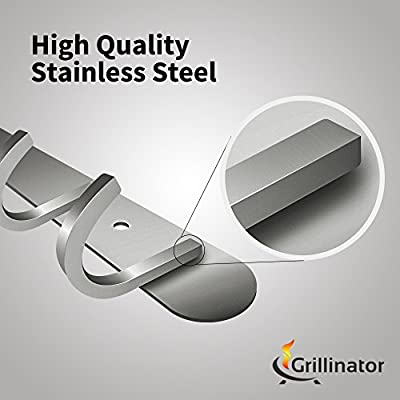 Grillinator BBQ Tool Rack and Accessories Hanger: The Ultimate Outdoor Hanging Barbecue Grill Utensil Holder for Gas, Pellet or Wood Grills Installation …