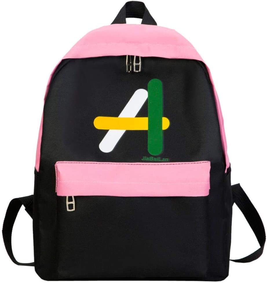 Anxinke Girls Fashion Students Canvas Schoolbag Satchel Backpacks Bag Rucksacks Red