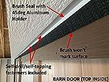 JaCor Medium-Duty Brush Seal; Clear Aluminum