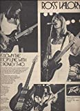 Vintage 1979 MAGAZINE AD With Ross Valory For Peavey T-40 Guitars