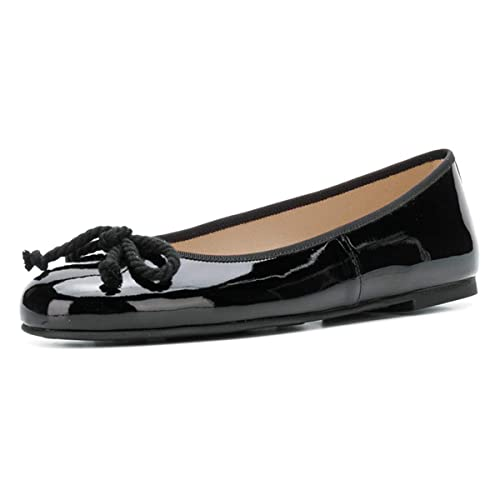 6ecf7f8a49000 YDN Women Classic Round Toe Ballet Flats Slip on Bow Pumps Low Heel ...