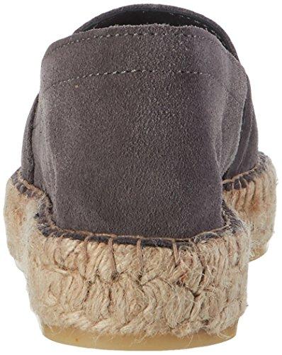 Stykker Dame Pslucia Ruskind Espadrillos Elephant Hud Espadriller Grau (elephant Huden) WOEK3e