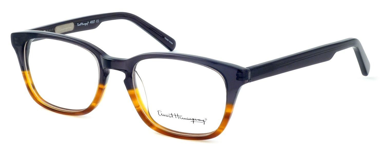 Ernest Hemingway 4657 Designer Reading Glasses in Smoke-Tortoise +0.50