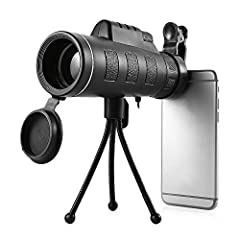 Description:  Portable and compact, this 30X50 outdoor monocular is the perfect tool for birds searching, concert watching, golfing, hunting, climbing, fishing, attending sports events or even just view enjoying!  It can be folded to match th...